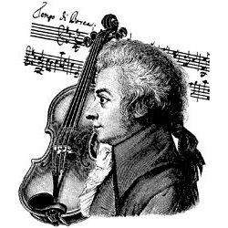 LaBlanche - Music Collection - Foam Mounted Silicone Stamp - Composer with Violin