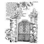 LaBlanche - Landscape Collection - Foam Mounted Silicone Stamp - Gate with Lions Head