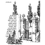 LaBlanche - Landscape Collection - Foam Mounted Silicone Stamp - Gate with Trees