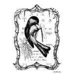 LaBlanche - Foam Mounted Silicone Stamp - Framed Chickadee