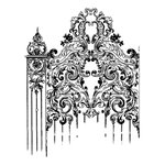 LaBlanche - Foam Mounted Silicone Stamp - Elegant Gate