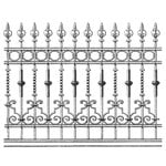 LaBlanche - Foam Mounted Silicone Stamp - Wrought Iron Fence