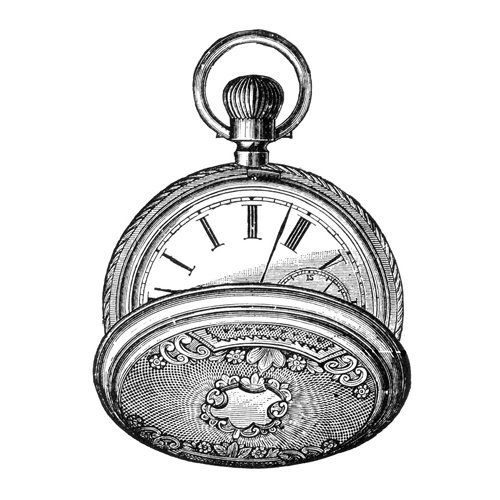 LaBlanche - Foam Mounted Silicone Stamp - Pocketwatch
