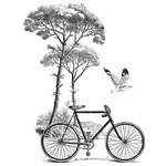 LaBlanche - Foam Mounted Silicone Stamp - Scenic Bicycle