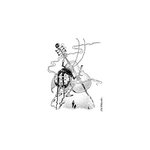 LaBlanche - Foam Mounted Silicone Stamp - Playing Cello