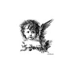 LaBlanche - Foam Mounted Silicone Stamp - Christmas Cherub