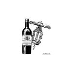 LaBlanche - Foam Mounted Silicone Stamp - Corkscrew and Wine