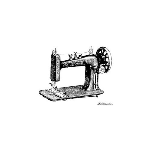 LaBlanche - Foam Mounted Silicone Stamp - Sewing Machine