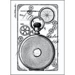 LaBlanche - Foam Mounted Silicone Stamp - Clock Back