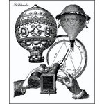 LaBlanche - Foam Mounted Silicone Stamp - Balloon Observation