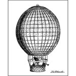 LaBlanche - Foam Mounted Silicone Stamp - Hot Air Balloon