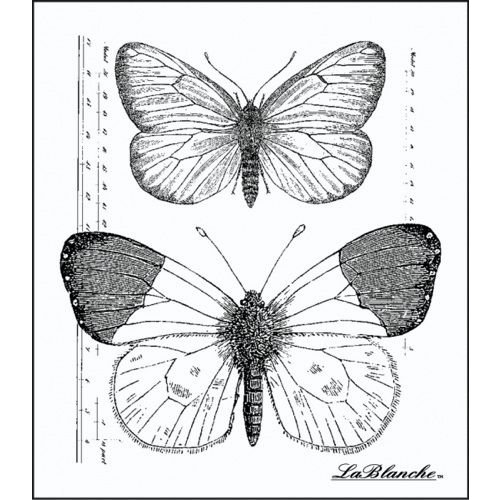 LaBlanche - Foam Mounted Silicone Stamp - Measured Butterflies