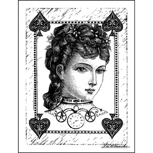 LaBlanche - Foam Mounted Silicone Stamp - Sweet Poker Face
