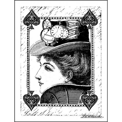 LaBlanche - Foam Mounted Silicone Stamp - Queen of Spades