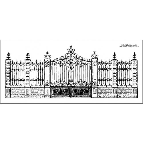LaBlanche - Foam Mounted Silicone Stamp - Stately Gate