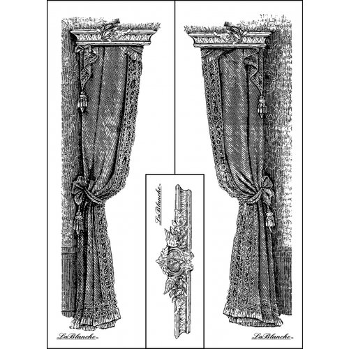 LaBlanche - Foam Mounted Silicone Stamp - 3 Curtain Designs