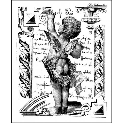 LaBlanche - Foam Mounted Silicone Stamp - Waving Cherub