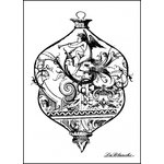 LaBlanche - Foam Mounted Silicone Stamp - Christmas - Intricate Glass Ornament