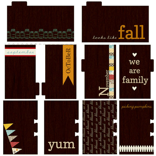 Lily Bee Design - Autumn Spice Collection - Journal Cards