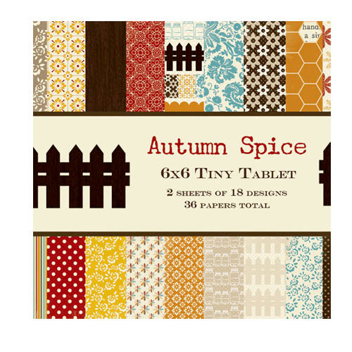 Lily Bee Design - Autumn Spice Collection - Tiny Tablet - 6 x 6 Paper Pad