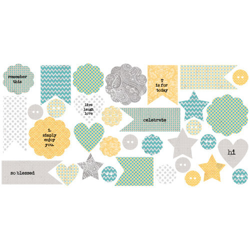 Lily Bee Design - Buttercup Collection - Bag of Bits - Die Cut Cardstock Pieces
