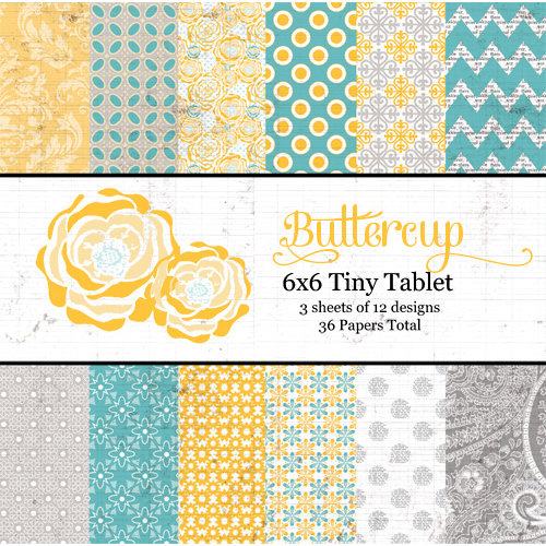 Lily Bee Design - Buttercup Collection - Tiny Tablet - 6 x 6 Paper Pad