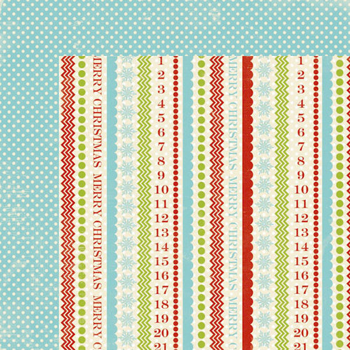 Lily Bee Design - Christmas Cheer Collection - 12 x 12 Double Sided Paper - Figgy Pudding