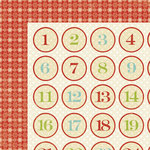 Lily Bee Design - Christmas Cheer Collection - 12 x 12 Double Sided Paper - Reindeer Games