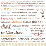 Lily Bee Design - Catching Fall Collection - 12 x 12 Rub Ons