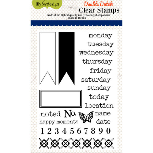 Lily Bee Design - Double Dutch Collection - Clear Acrylic Stamps