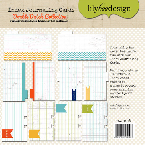 Lily Bee Design - Double Dutch Collection - Journal Cards