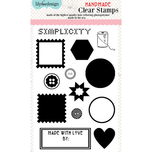Lily Bee Design - Handmade Collection - Clear Acrylic Stamps