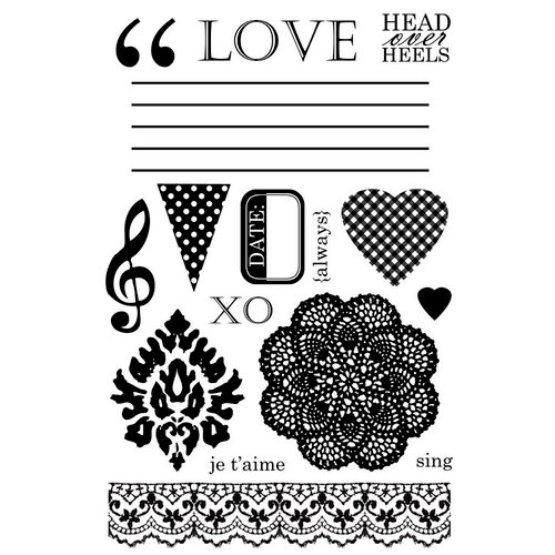 Lily Bee Design - Head Over Heels Collection - Clear Acrylic Stamps