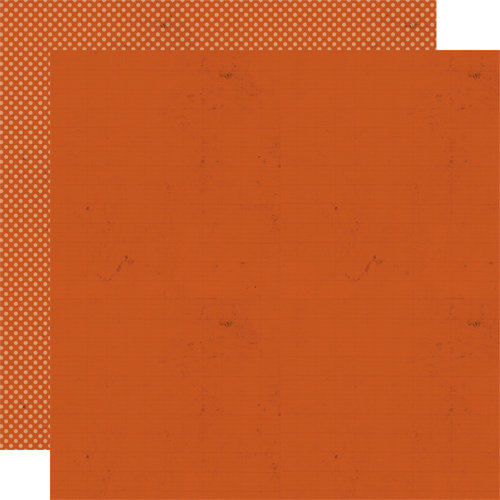 Lily Bee Design - Harvest Market Collection - Halloween - 12 x 12 Double Sided Paper - Pumpkin