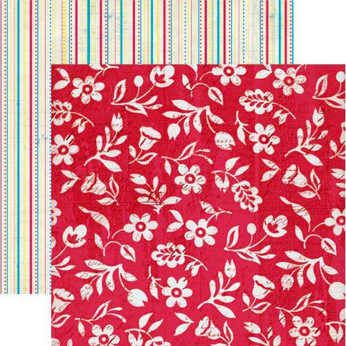Lily Bee Design - Hello Sunshine Collection - 12 x 12 Double Sided Paper - Twirl, CLEARANCE