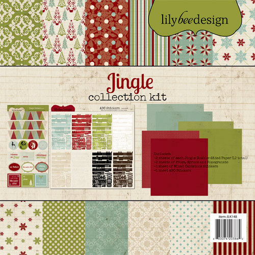 Lily Bee Design - Jingle Collection - Christmas - 12 x 12 Collection Kit