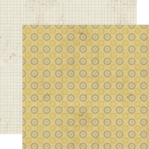 Lily Bee Design - Memorandum Collection - 12 x 12 Double Sided Paper - Time Clock