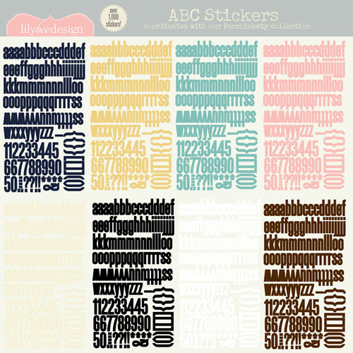 Lily Bee Design - Persnickety Collection - 12 x 12 Cardstock Stickers - Alphabet
