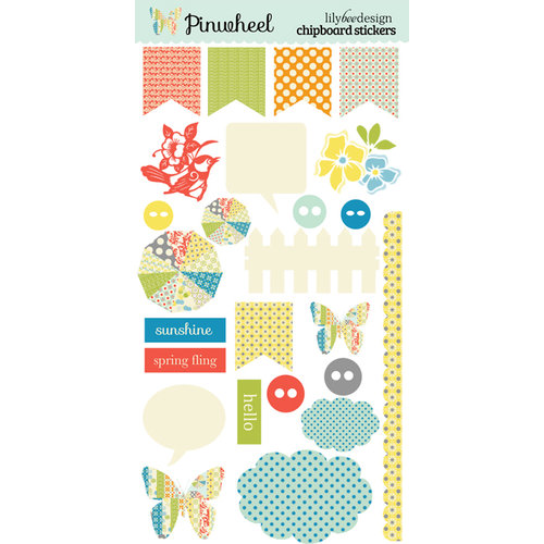 Lily Bee Design - Pinwheel Collection - Chipboard Stickers