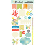 Lily Bee Designs - Pinwheel Collection - Chipboard Stickers