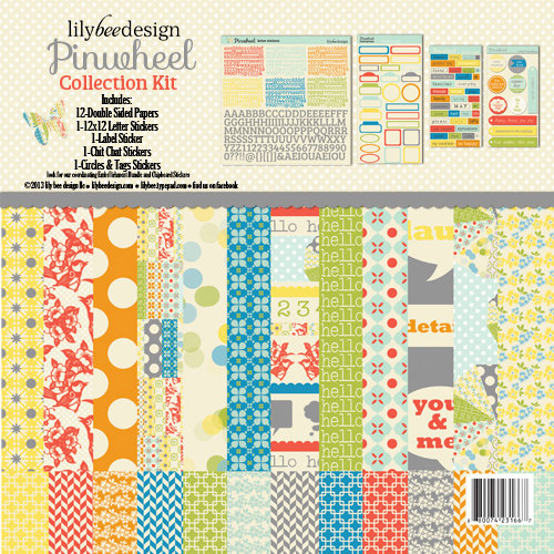 Lily Bee Designs - Pinwheel Collection - 12 x 12 Collection Kit