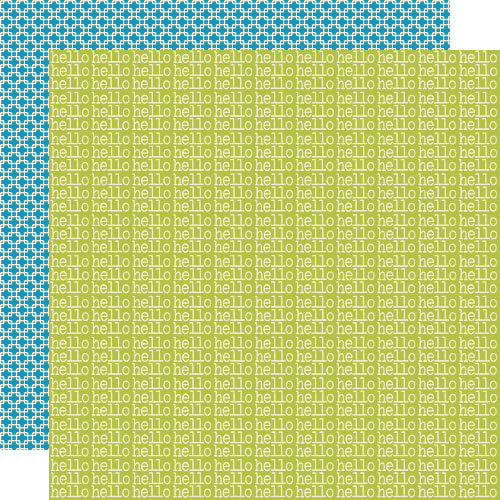 Lily Bee Designs - Pinwheel Collection - 12 x 12 Double Sided Paper - Lime Rickey