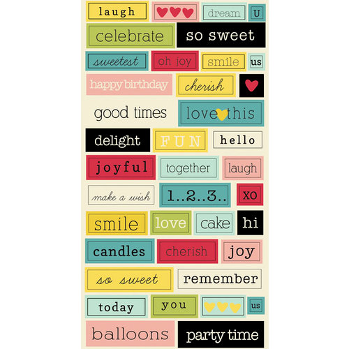 Lily Bee Design - Sweet Shoppe Collection - Cardstock Stickers - Chit Chat