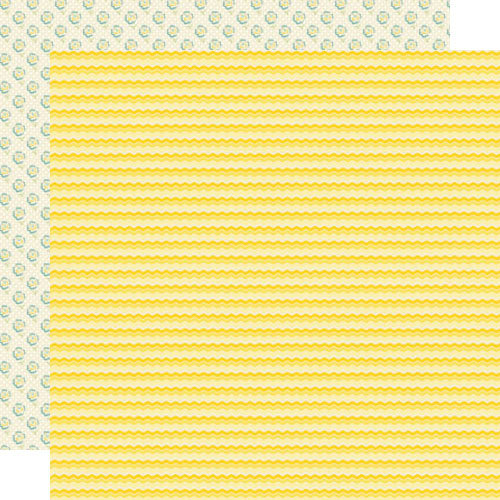 Lily Bee Design - Sweet Shoppe Collection - 12 x 12 Double Sided Paper - Lemon Drop