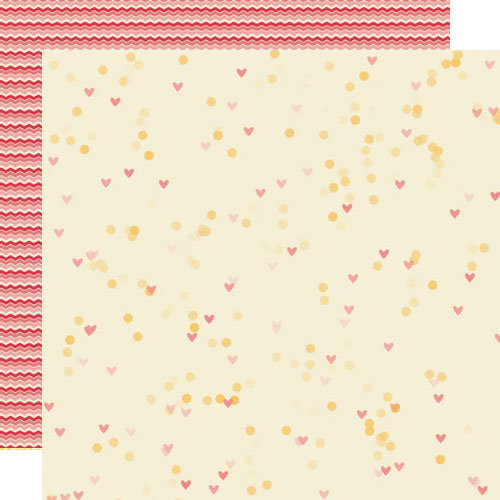Lily Bee Design - Sweet Shoppe Collection - 12 x 12 Double Sided Paper - Marshmellow