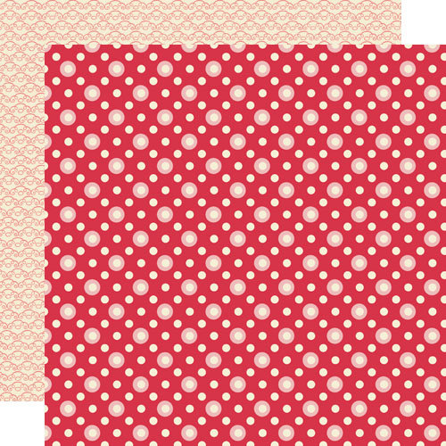 Lily Bee Design - Sweet Shoppe Collection - 12 x 12 Double Sided Paper - Pink Mint