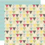 Lily Bee Design - Sweet Shoppe Collection - 12 x 12 Double Sided Paper - Jellybean