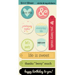 Lily Bee Design - Sweet Shoppe Collection - Cardstock Stickers - Circles and Tags