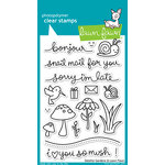 Lawn Fawn - Clear Acrylic Stamps - Gleeful Gardens