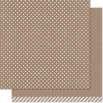 Lawn Fawn - Let's Polka, Mon Amie Collection - 12 x 12 Double Sided Paper - Milk Chocolate Polka